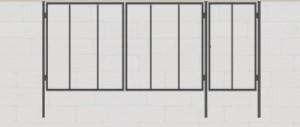 каркас ворот с калиткой