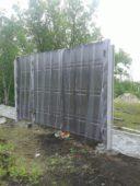 процесс установки ворот